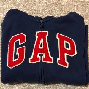 Gap navy blue zip hoodie
